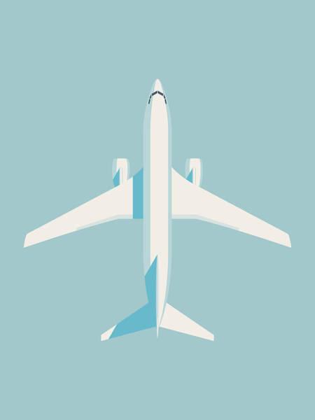 Airplane Digital Art - 737 Passenger Jet Airliner Aircraft - Sky by Ivan Krpan