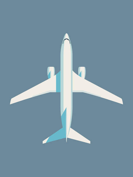 Plane Photograph - 737 Passenger Jet Airliner Aircraft - Slate by Ivan Krpan