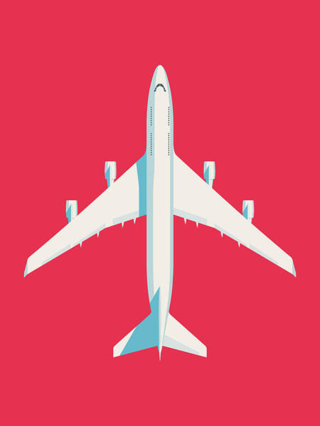 Wall Art - Digital Art - 747 Jumbo Jet Airliner Aircraft - Crimson by Ivan Krpan