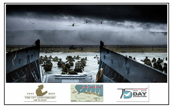 Atlantic Digital Art - 75th Anniversary Of  D-day by Peter Chilelli