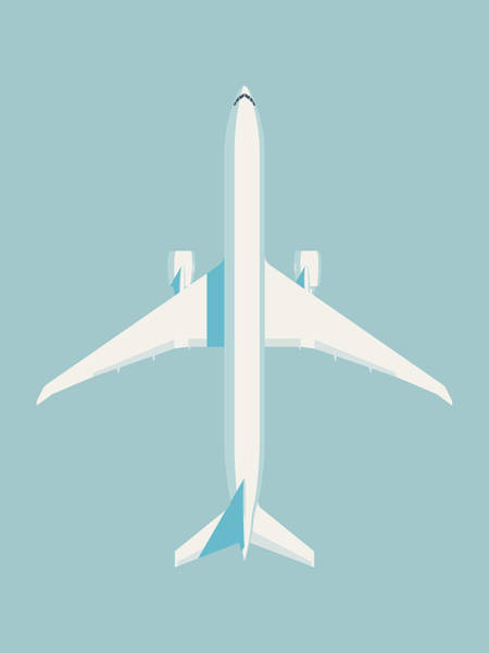 Wall Art - Digital Art - 777 Passenger Jet Airliner Aircraft - Sky by Ivan Krpan