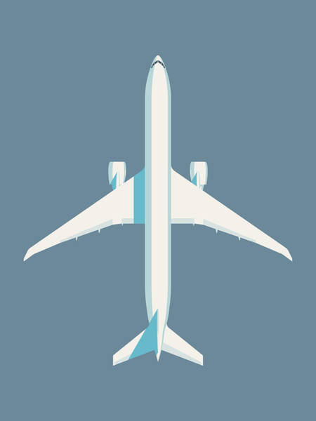 Wall Art - Digital Art - 777 Passenger Jet Airliner - Slate by Ivan Krpan