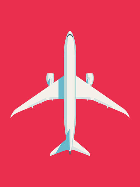 Wall Art - Digital Art - 787 Passenger Jet Airliner Aircraft - Crimson by Ivan Krpan