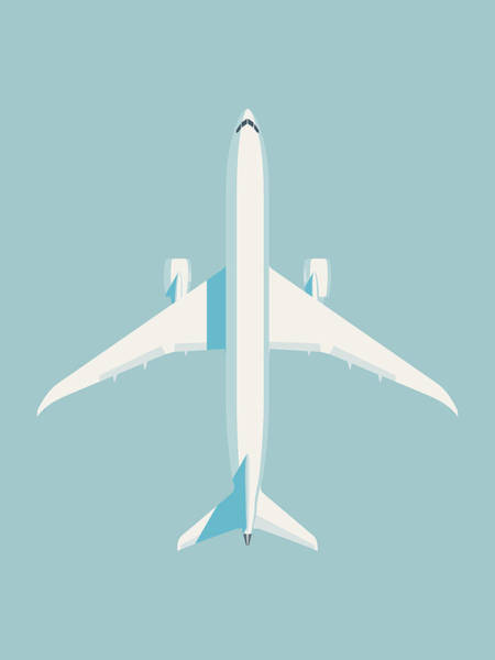 Wall Art - Digital Art - 787 Passenger Jet Airliner Aircraft - Sky by Ivan Krpan