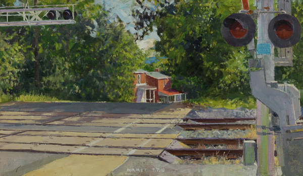 Wall Art - Painting - 7th Street Train Crossing, Fifeville Houses by Edward Thomas