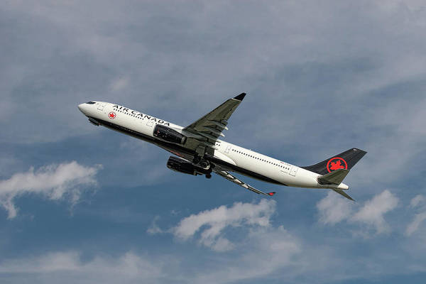 Wall Art - Mixed Media - Air Canada Airbus A330-343 by Smart Aviation