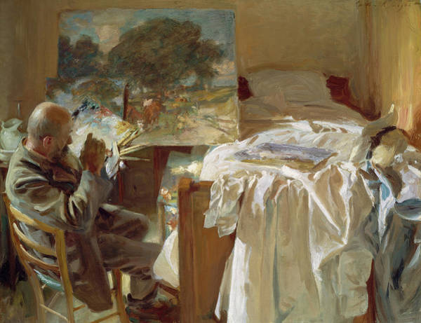 Wall Art - Painting - An Artist In His Studio by John Singer Sargent