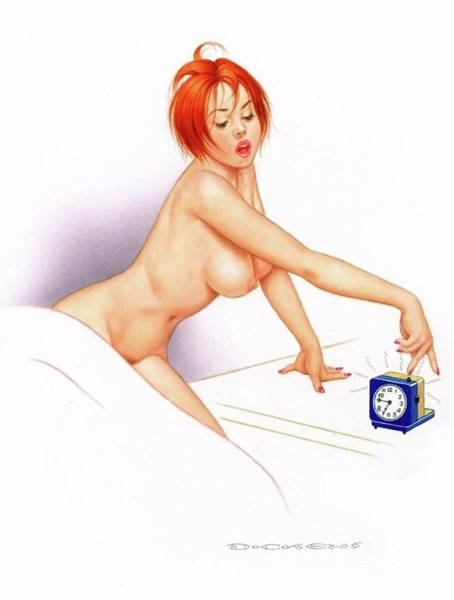 Wall Art - Painting - Archie Dickens Pin Up Art by Frank Falcon