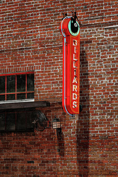 Wall Art - Photograph - 8 Ball Billiards Back Alley Sign  -  Eightballbilliardsbackalleysign117360 by Frank J Benz