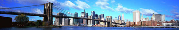 Wall Art - Photograph - Bridge Across A River, Brooklyn Bridge by Panoramic Images