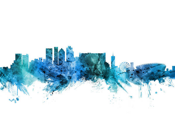 Wall Art - Digital Art - Cape Town South Africa Skyline by Michael Tompsett
