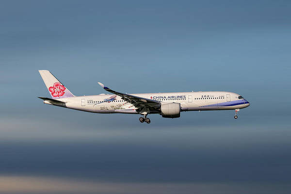 Wall Art - Mixed Media - China Airlines Airbus A350-941 by Smart Aviation