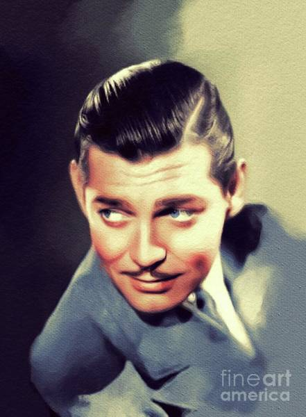 Wall Art - Painting - Clark Gable, Vintage Movie Star by John Springfield