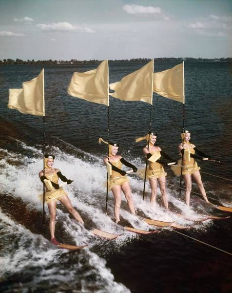 Waterskiing Photograph - Cypress Gardens by Michael Ochs Archives