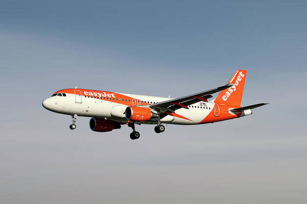 Wall Art - Mixed Media - Easyjet Airbus A320-214 by Smart Aviation