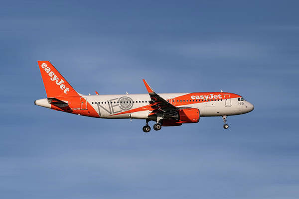 Wall Art - Mixed Media - Easyjet Neo Livery Airbus A320-251n by Smart Aviation