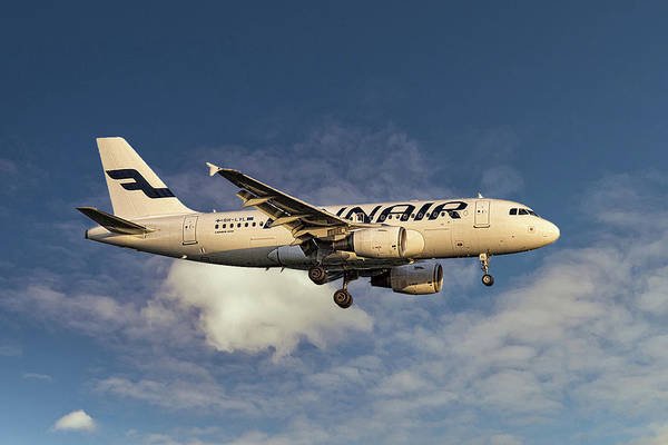 Wall Art - Mixed Media - Finnair Airbus A319-112 by Smart Aviation