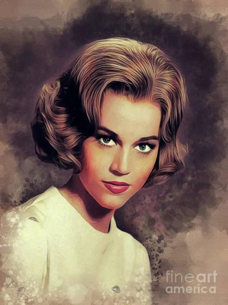 Wall Art - Painting - Jane Fonda, Movie Star by John Springfield