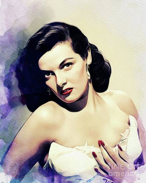 Wall Art - Painting - Jane Russell, Vintage Movie Star by John Springfield
