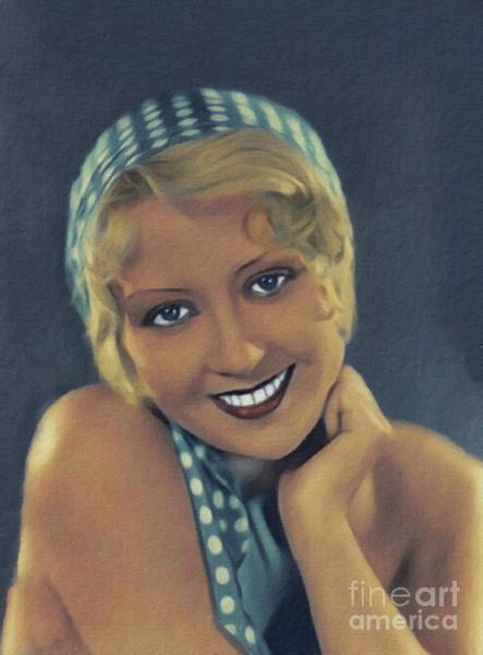 Wall Art - Painting - Joan Blondell, Vintage Actress by John Springfield