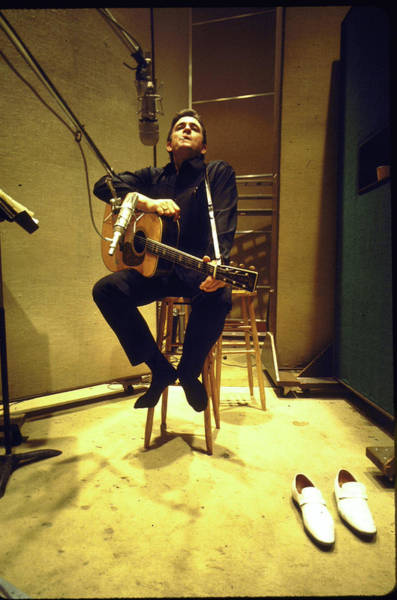 Photograph - Johnny Cash by Michael Rougier