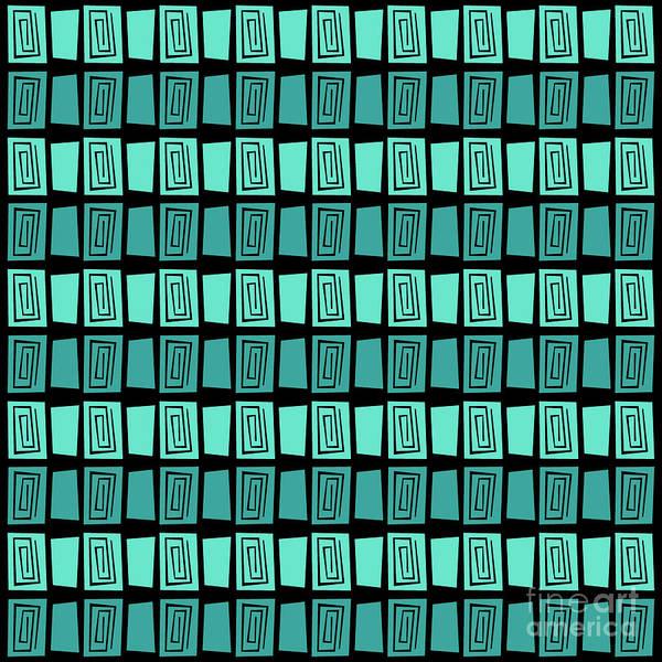 Wall Art - Digital Art - Mid Century Modern Maze by Donna Mibus