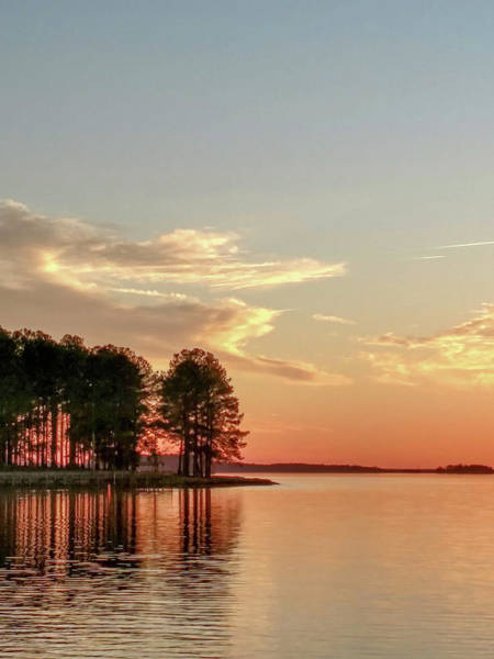 Photograph - Monticello Reservoir In South Carolina At Sunset by Alex Grichenko