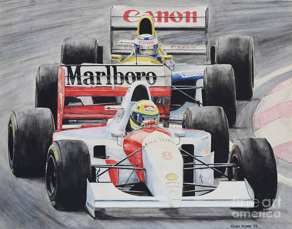 Ayrton Senna Wall Art - Painting - 8  by Oleg Konin