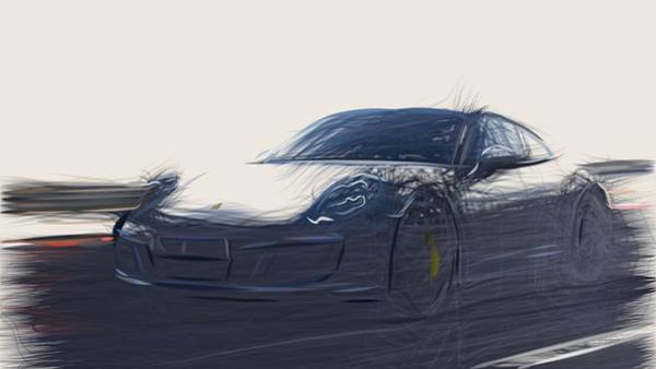 Wall Art - Digital Art - Porsche 911 Gts Drawing by CarsToon Concept