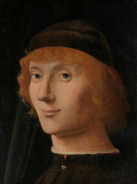 Wall Art - Painting - Portrait Of A Young Man by Antonello da Messina