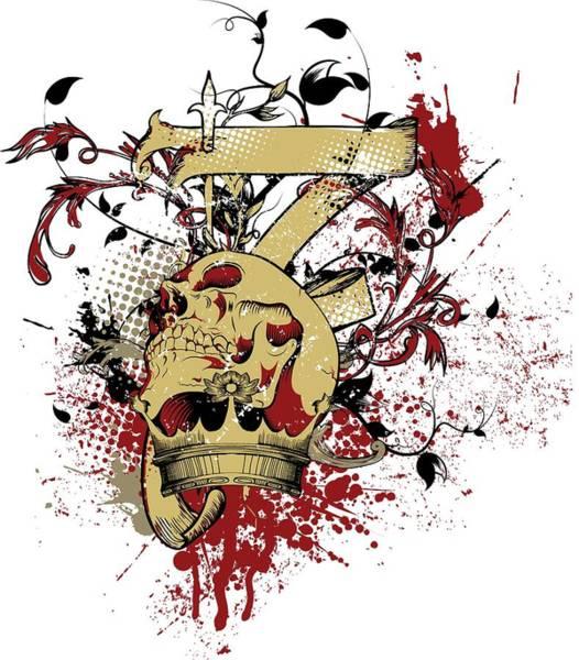 Digital Art - Skull by Passion Loft
