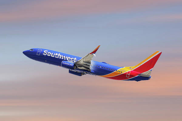 Wall Art - Mixed Media - Southwest Airlines Boeing 737-8h4 by Smart Aviation