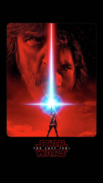 Wall Art - Digital Art - Star Wars The Last Jedi by Geek N Rock