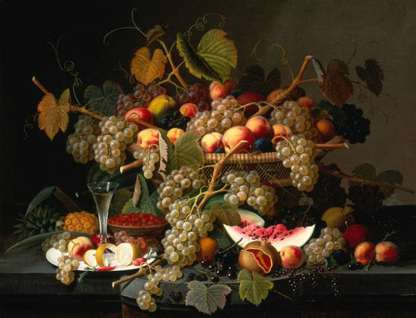 Painting - Still Life With Fruit by Severin Roesen