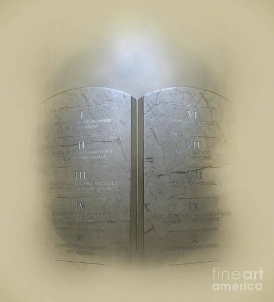 Wall Art - Digital Art - Ten Commandments by Allan Swart