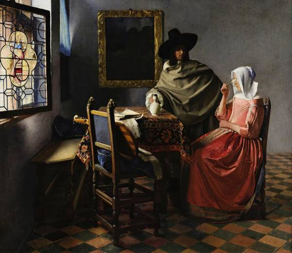 Wall Art - Painting - The Glass Of Wine by Johannes Vermeer