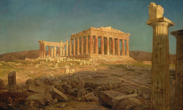 Collapse Painting - The Parthenon by Frederic Edwin Church
