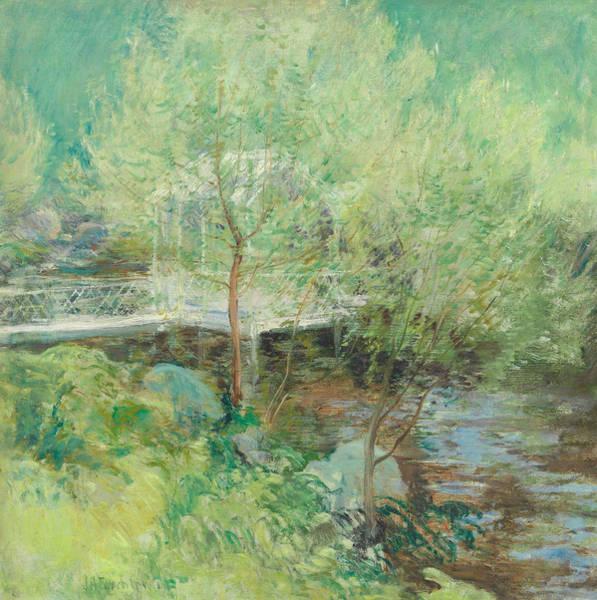 Wall Art - Painting - The White Bridge by John Henry Twachtman