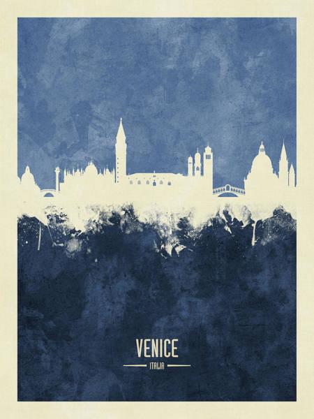 Wall Art - Digital Art - Venice Italy Skyline by Michael Tompsett