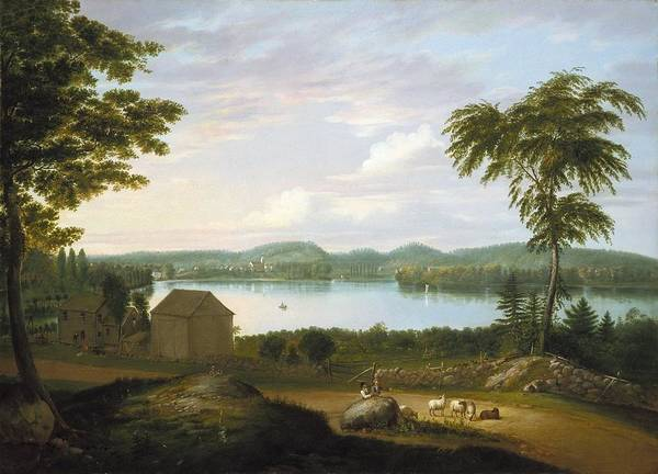 Wall Art - Painting - View Of Springfield On The Connecticut River by Alvan Fisher