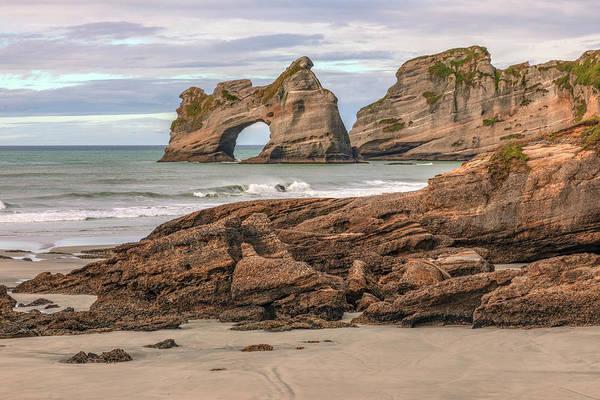 Archway Photograph - Wharariki Beach - New Zealand by Joana Kruse