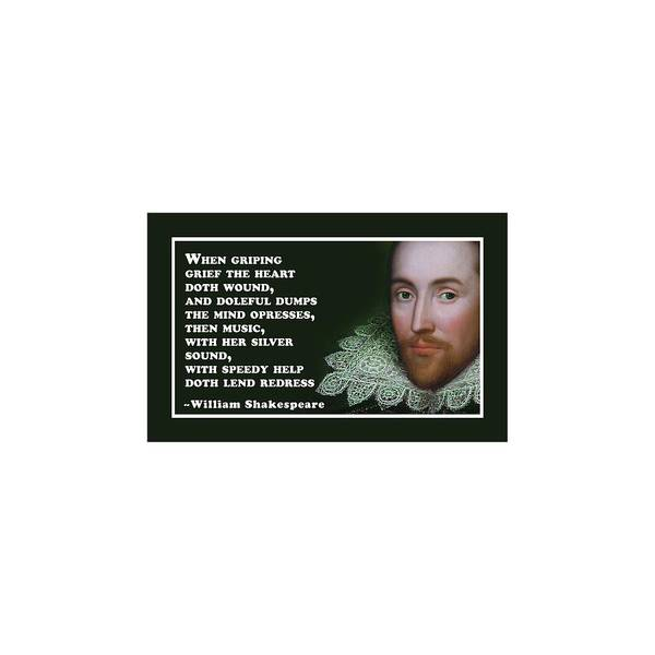 Wall Art - Digital Art - When Griping Grief #shakespeare #shakespearequote by TintoDesigns