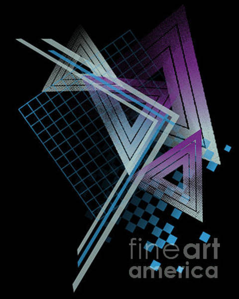 Wall Art - Digital Art - 80s Style Abstract Shapes by Tairy Greene