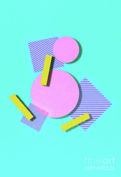 Neon Blue Digital Art - 80s Style Art And Design by Ryanjlane