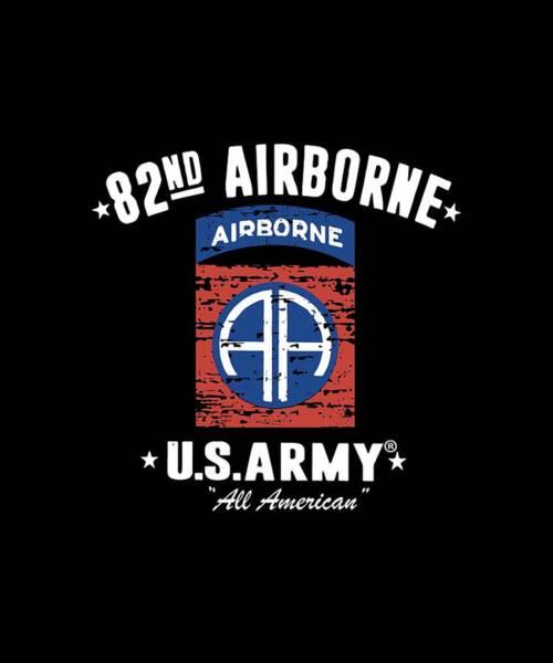 War Bonds Digital Art - 82nd Airborne Division Classic Veteran by Eric Manna