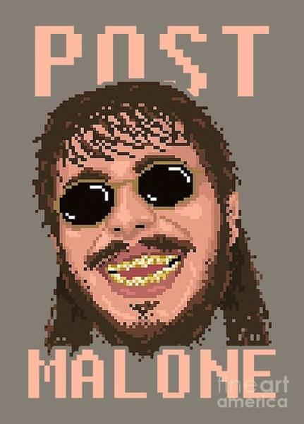 Deja Vu Digital Art - 8bit Cool Malone by Joshfalacy