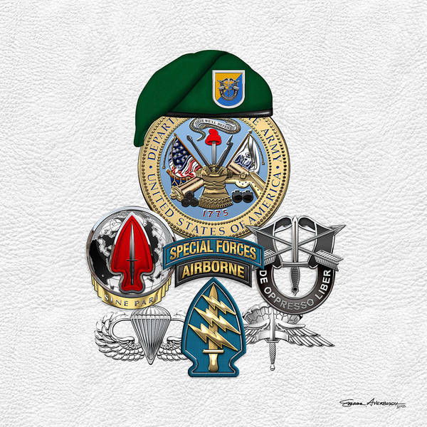 Digital Art - 8th Special Forces Group - Green Berets Special Edition by Serge Averbukh