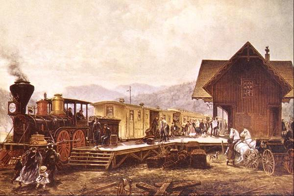Conn Wall Art - Painting - 9 45 A.m. Stratford, Conn by Edward Lamson Henry