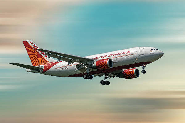 Wall Art - Mixed Media - Air India Cargo Airbus A310-304 by Smart Aviation