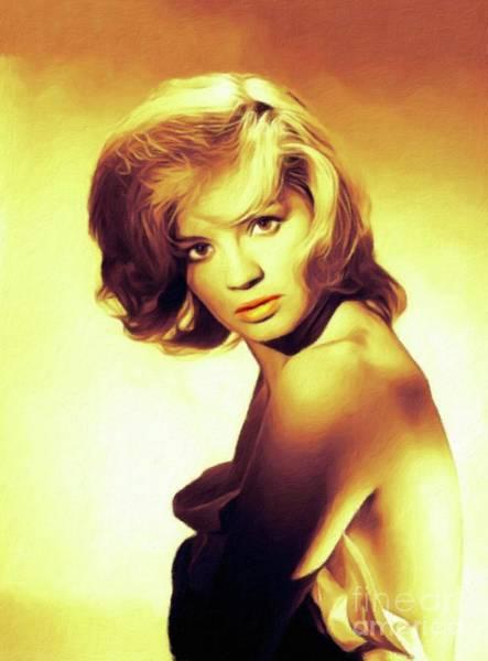 Wall Art - Painting - Angie Dickinson, Vintage Movie Star by John Springfield